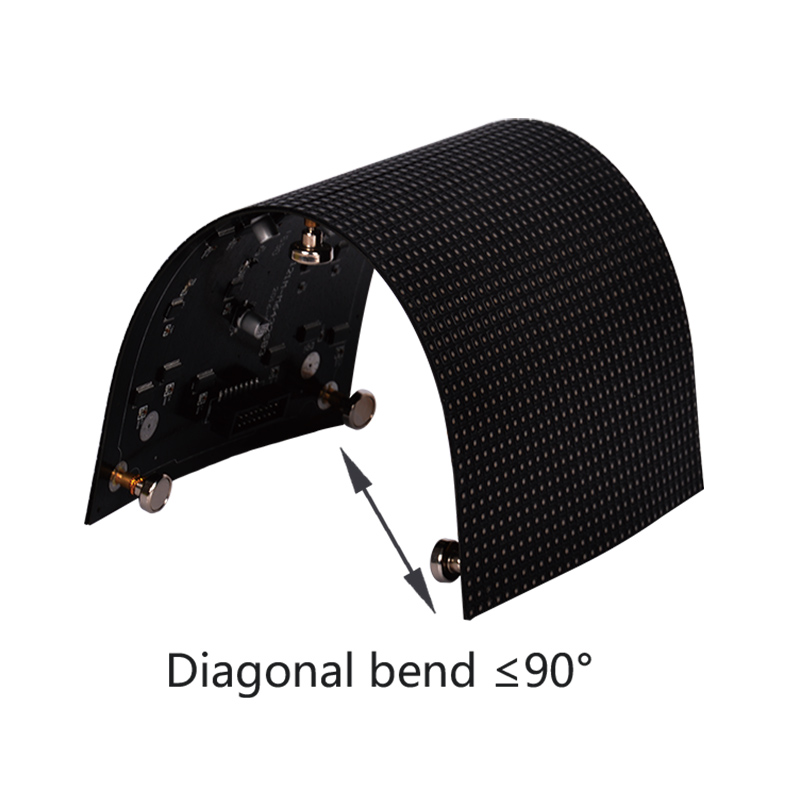 P4 Super Flexible 256x128mm Soft Led Module for Indoor Creative Curved LED Display