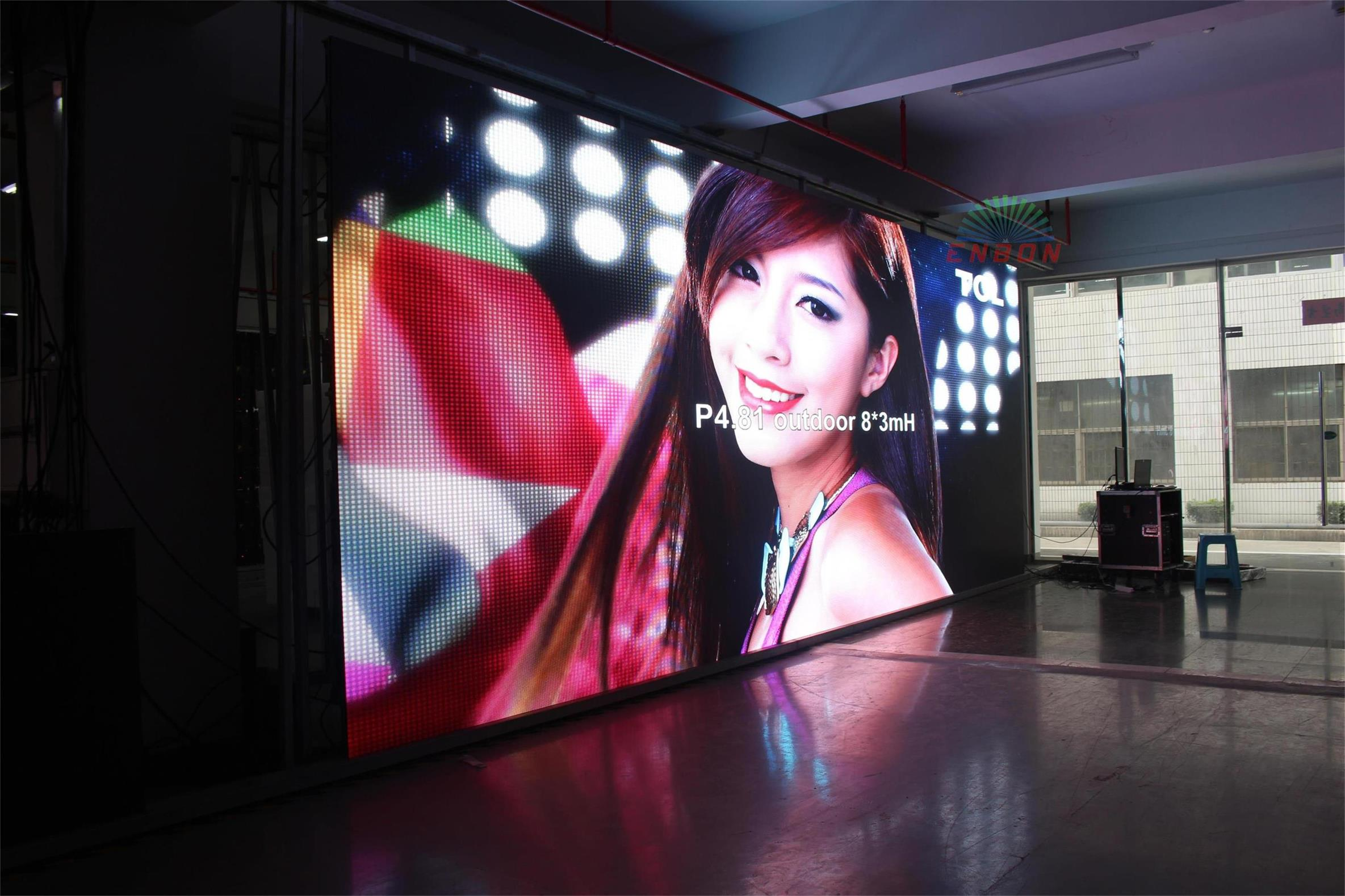 P4.8 most popular outdoor Indoor LED Display Screen with panel size 500*1000mm
